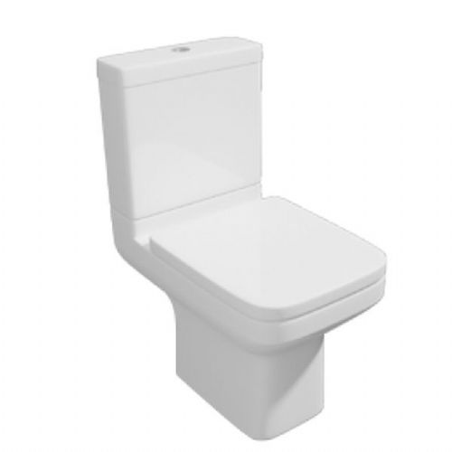 Kartell Trim Close Coupled Toilet - Cistern - Soft Close Seat - White